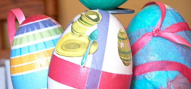Decoupage Goose Eggs