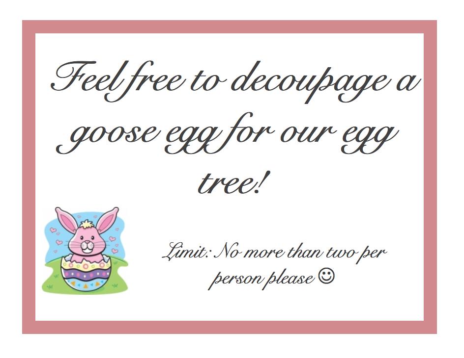 Decoupage Egg Poster