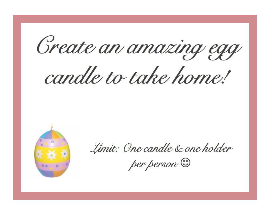 Egg Candle Poster