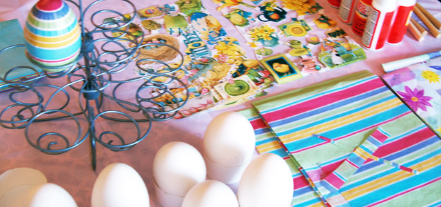 Close Up of Egg Table