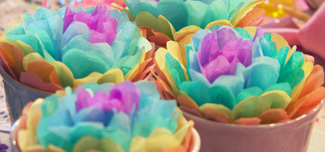 Craft ideas for spring tissue paper flowers mightylinksfo Gallery