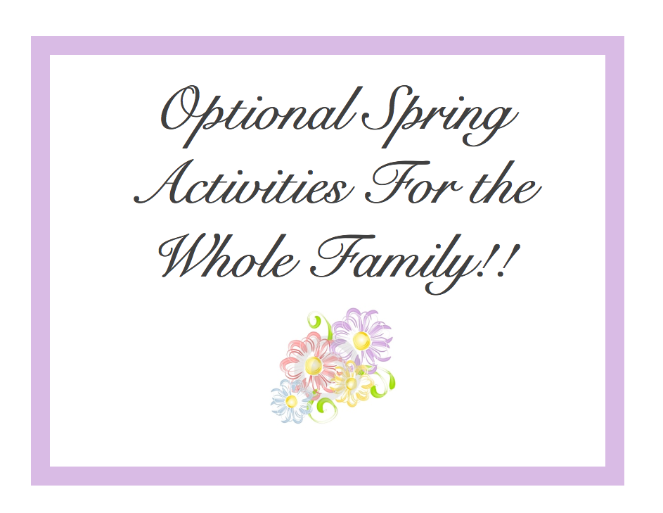Spring Activity Poster