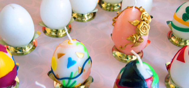 Decorated Egg Candles