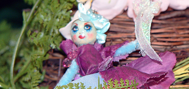 Holiday & Hearth Holiday and Hearth craft blog Lisa Anne Novelline blue fairy summer solstice litha fairies