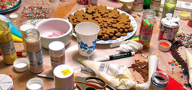 Yule Gingerbread Cookie Decorating Materials Holiday & Hearth Holiday and Hearth Lisa Novelline Lisa Anne Novelline author writer The Dance of Spring craft blog creative blog creativity decorator blog festival celebration seasons nature blog Winter Christmas Yule yuletide Winter Solstice December yule gingerbread cookies gingerbread men gingerbread houses handcrafted