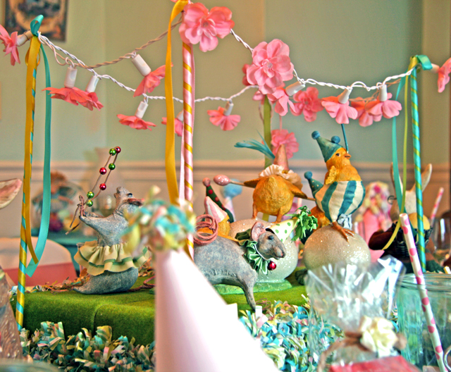 Bunnies chicks eggs spring table decor full of fancy for Spring dance decorations